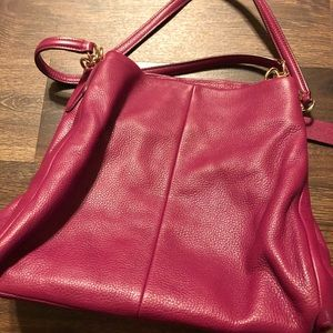 Coach Slouch Bag EUC in Plum